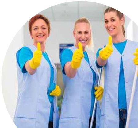Happy Cleaners at Bright White